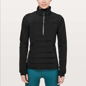 Lululemon down for it all pullover black 12 NWT